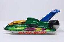"2001 Matchbox ""Wings 'n Water"" Hydroplane GREEN METALLIC/MINT"