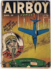 AIRBOY COMICS 85 volume 8 #2 1951 Hillman Publication THE HEAP swamp monster