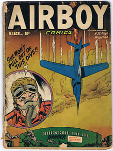 AIRBOY COMICS 85 volume 8 #2 1951 Hillman Publication THE HEAP swamp monster