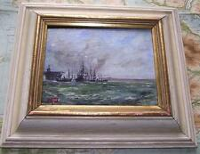 Royal Navy Fleet Southampton D : Original Impressionist Oil Painting Carlos Geri