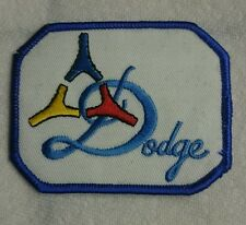 Vintage Dodge iron on embroidery patch jacket caps 1980's