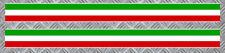 STICKER 2 X BANDES TRICOLORE ITALIE FIAT 500 VESPA AUTOCOLLANT 55X3cm BA156
