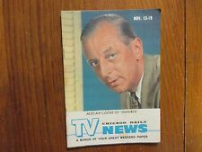November 13, 1960 Chicago Daily TV News Magazine (ALISTAIR  COOKE/OMNIBUS)