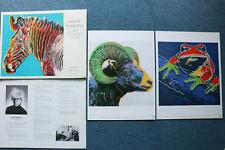 ANDY WARHOL ENDANGERED SPECIES 2 prints from Portfolio, Chronology sheet, Folder