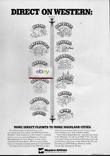 WESTERN AIRLINES MORE DIRECT FLIGHT TO MAINLAND FROM HAWAII THRU DC-10 JETS AD