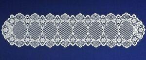 """Lace 13"""" x 54"""" Table Runner White Crochet Style Carmen Diningroom Bedroom"""