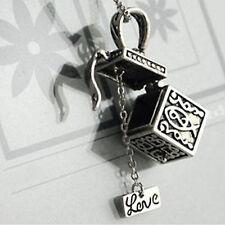 Retro Ladies Girls Charm Wish Prayer Box Dangle Pendant Necklace Jewellery COOL