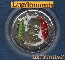 2 euro Commémo Couleur Color - Italie 2010 Comte Cavour Type II Italia