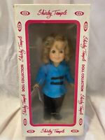 """Vintage 1982 Shirley Temple 8"""" Doll """"Asian Stowaway"""" Blue, By Ideal Lot Of 2"""