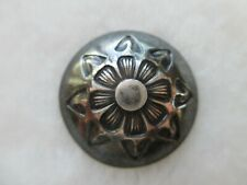 """*Antique~Awesome 1920s Navajo Tested Sterling Silver Flower Design Button 13/16"""""""