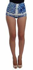 NWT $700 DOLCE & GABBANA Shorts Blue White Majolica Mini Hot Pants IT40 /US6 / S