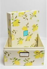 Kate Spade New York Large Storage Nesting Box Lemon Pattern