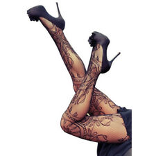 Women Black Mesh Pattern Stockings Hosiery Tights Pantyhose LJ