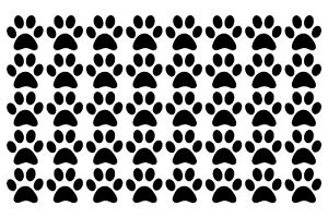 DOG PAW / CAT 40 PACK WALL WINDOW LAPTOP PHONE STICKERS VINYL DECAL 1inch