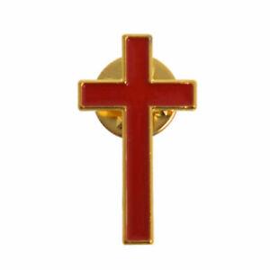 Christliches Kreuz Brosche Klerus Pastor Rote Brustnadel Priester Brosche Pin