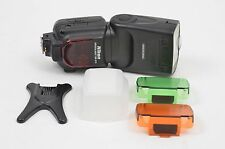 MINT- NIKON SB-910 SPEEDLIGHT FLASH, CASE, STAND, DIFFUSER, FILTERS, TESTED