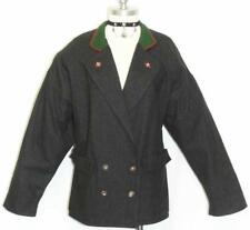 BLACK WOOL German Women Winter Dress JACKET Coat 14 L