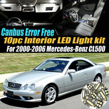 10Pc Error Free White Interior LED Light Kit for 2000-2006 Mercedes-Benz CL500