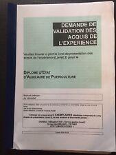 LIVRET 2 VAE AUXILIAIRE DE PUERICULTURE DEAP*ENVOI RAPIDE APRES PAIEMENT
