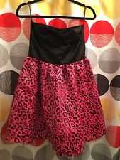 NWT Abbey Dawn Dress size large animal print black and pink