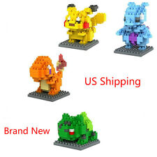 Pokemon Go Set 4pcs Building Toy Nano mini Block Mini Diamond Set Nanoblocker