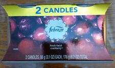 Febreze Fresh Twist Cranberry Limited Edition Candles 2 Pack New