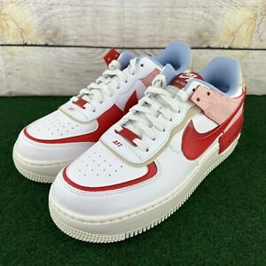 """Nike Air Force 1 Shadow """"White University Red"""" (CI0919-108) Women's Size 11"""