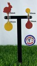 4 oggetti di metallo su 2 DOPPIO ACCIAIO Spinners AIR RIFLE SHOOTING plinking * PK02