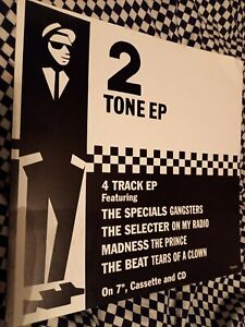 Madness Rare Cardboard Promo Poster For The 2 Tone EP