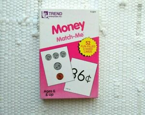 Trend Enterprises Inc. Money Match - Me Ages 6 & up Vintage 52 cards home school