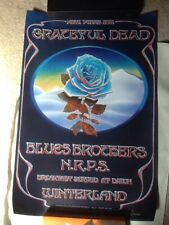 "Grateful Dead Poster -""Blue Rose"" 2nd Printing Lithograph -Mouse/Kelley NM!"