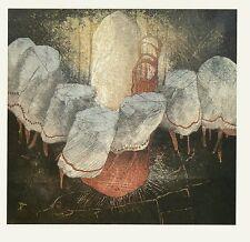 """Reinhard Zado, """"Tanzende Tische"""", 1986 Radierung handsigniert"""