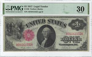 $1 1917 Legal Tender Fr#36 PMG VF30