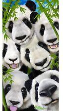 """Panda Bear Selfie Beach Towel 30"""" X 60"""" Panda Towel"""
