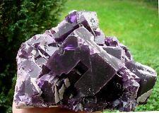 Purple Zoned Twisted Cubic Fluorite w Barite, Rosiclare, Illinois 6 Lb, 7 Oz