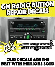 2007-2013 Chevy Traverse Worn Buttons Repair Decals Radio Stereo Control