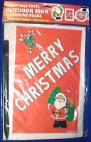 Christmas Vinyl Outdoor Sign W Stake Merry Christmas