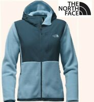 THE NORTH FACE denali fleece hoodie jacket quick dry zip in 2 tone blue womens M
