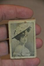 Early 1900's Matchbox Jeanne Faber Erotic Picture CPP Portugal Like Pop Up Box
