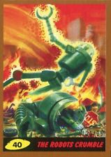 Mars Attacks The Revenge Bronze [25] Base Card #40 The Robots Crumble