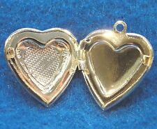 5Pcs. Silver-Plated HEART  LOCKET  Charms Pendants Tibetan Findings H034A
