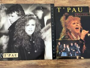 """T'PAU - CHINA IN YOUR HAND 12"""" SINGLE AND T'PAU SPECIAL BOOK"""