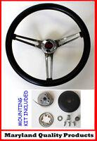 "1960-1969 Chevy Chevrolet Pick Up Grant Steering Wheel Black Grip 15"" Red/Blk"