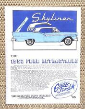 THE CLASSIC 1957 FORD SKYLINER RETRACTABLE HARDTOP CAR LITERATURE FACT SHEET 18