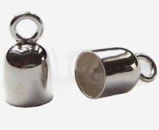 Endkappen 2 Stück Ø 4,1 mm innen 925 Silber Schmuckzubehör Endhülsen Kappen