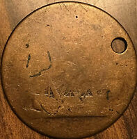 1812 LOWER CANADA HALF PENNY TOKEN COIN - Breton 1004 - Holed