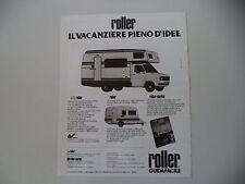 advertising Pubblicità 1983 CARAVAN AUTOCARAVAN ROLLER