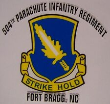 Window Bumper Sticker Military Army 504th Parachute Infantry Regiment NEW Decal