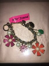 Betsey Johnson Flower Girl Bracelet Rare