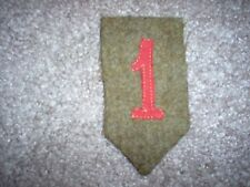 """WWI US Army patch 1st  Division """"Big Red One""""patch AEF"""